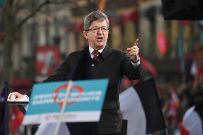 Jean-Luc Mélenchon, à Paris, le 18 mars.