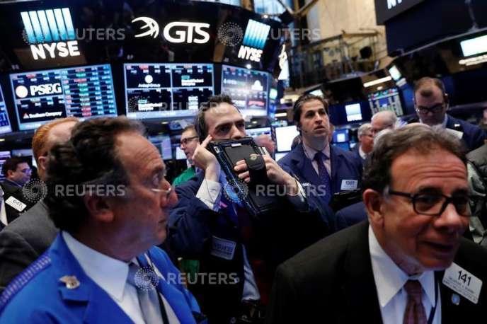 Le New York Stock Exchange, à New York, le 16 mars.