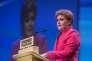 La première ministre écossaise Nicola Sturgeon, chef du Parti national écossais, àAberdeen le 18 mars.