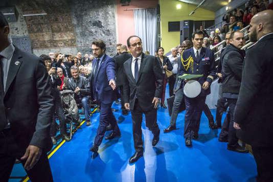 François Hollande le 18 mars à Crolles.