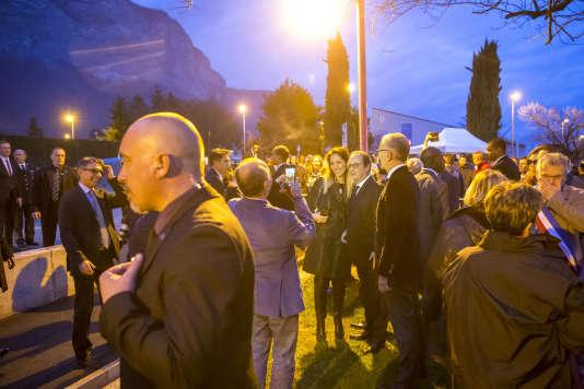 François Hollande, président de la république, en déplacement à Crolles, Isère, samedi 18 mars 2017 - 2017©Jean-Claude Coutausse / french-politics pour Le Monde