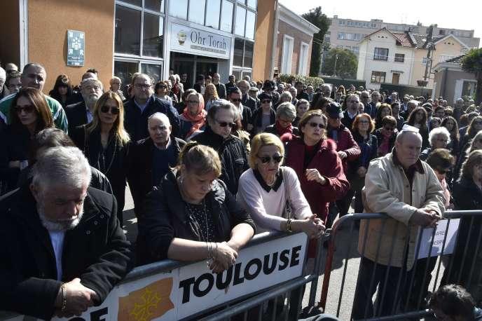 Hommages aux victimes de Mohamed Merah, à Toulouse, dimanche 19 mars.