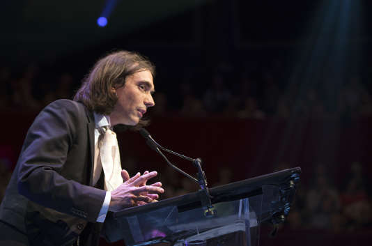 Cédric Villani lors d'une conférence en 2014.
