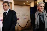 François et Penelope Fillon le 20 mars 2017 lors du débat présidentiel.