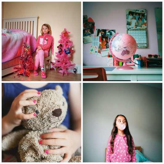 Habiller les filles en rose est-il une évidence ? se demande la photographe britannique Kirsty Mackay.