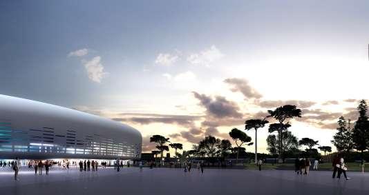 A Bordeaux, le futur Métropole Arena verrale jour à Floirac, sur la rive droite de la Garonne.