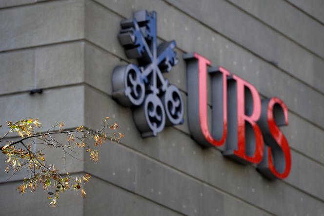Le logotype de la banque suisse UBS, poids lourd mondial de la gestion de fortune, à Zurich, le 15 septembre2011.