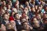 Yannick Jadot, Thomas Piketty, Vincent Peillon, Arnaud Montebourg et Jean-Christophe Cambadélis au meeting de Benoît Hamon à Paris, le 19 mars.