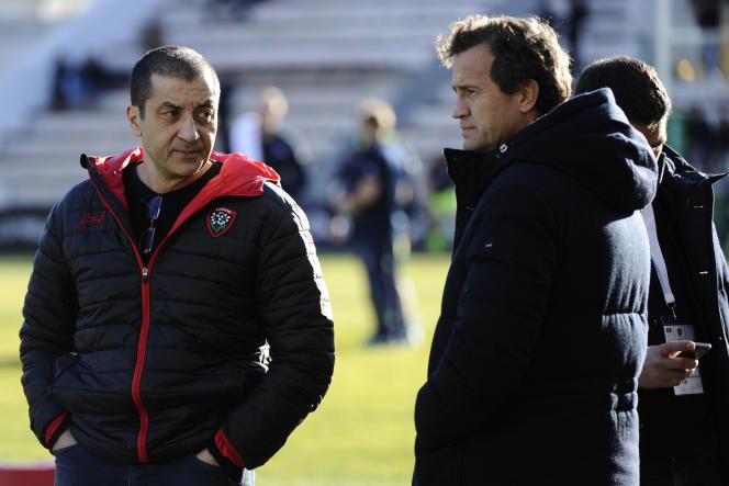 Mourad Boudjellal et Fabien Galthié, le 15 janvier à Toulon.