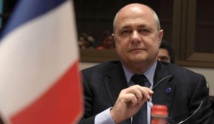 Le ministre de l'intérieur, Bruno Le Roux, le 20 mars, à Rome.