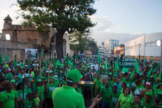 La« marche verte» à Saint-Domingue, le 19 mars 2017.