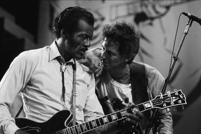 Chuck Berry et Keith Richards, dans le documentaire «Hail Hail ! Rock n'Roll».