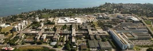 Vue aérienne de l'Ecole polytechnique fédérale de Lausanne (EPFL), en Suisse.