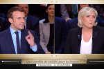 Macron et Le Pen durant le débat sur TF1 lundi 20 mars 2017