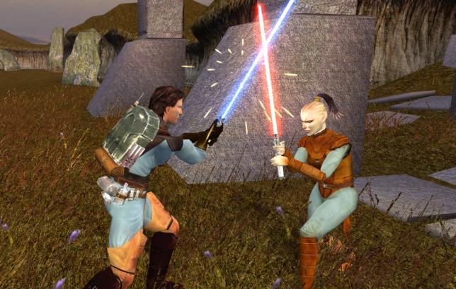 La Jedi Juhani dans «Star Wars Knights of the Old Republic», premier personnage gay des jeux Bioware.