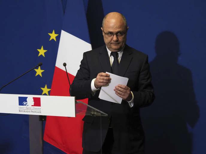 Bruno Le Roux, le 21 mars 2017, à Bobigny.