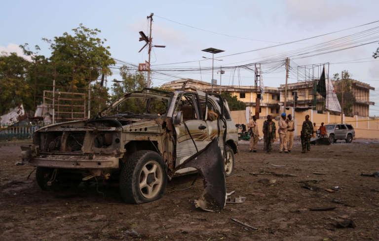 La scène de l'explosion àMogadiscio (Somalie), le 21 mars 2017