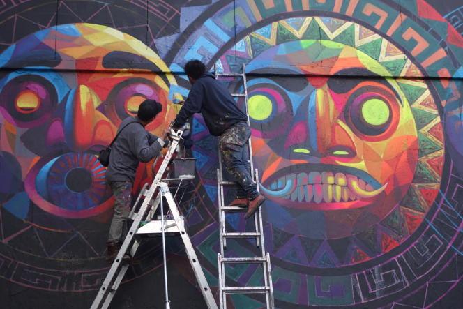 Street artistes à Belleville.