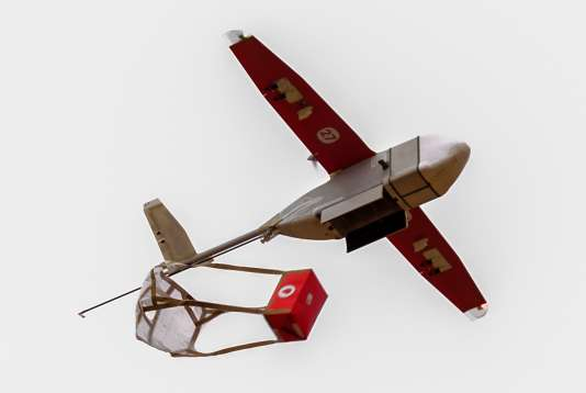 Un drone de Zipline Inc., dans le sud du Rwanda.