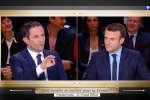 Hamon - Macron durant le débat sur TF1 le 20 mars 2017
