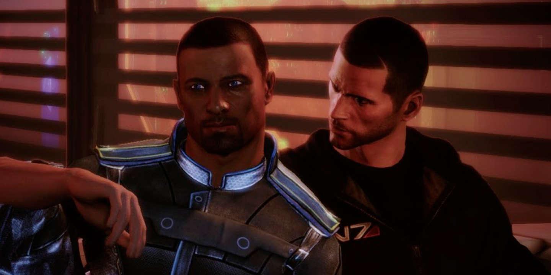 Steve Cortez et le commandant Shepard dans l'extension «Citadel» pour «Mass Effect 3».