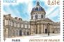 L'Institut de France, timbre dessiné et gravé par Claude Andréotto, paru en 2014.