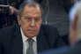 Le ministre des affaires étrangères russe, Sergeï Lavrov, lors d'une réunion avec l'envoyé spécial des Nations unies en Syrie, Staffan de Mistura, à Moscou, le 22 mars.