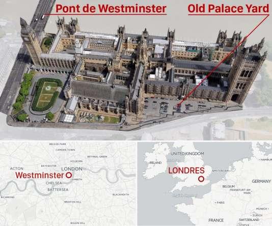 Carte situant le lieu de l'attaque.
