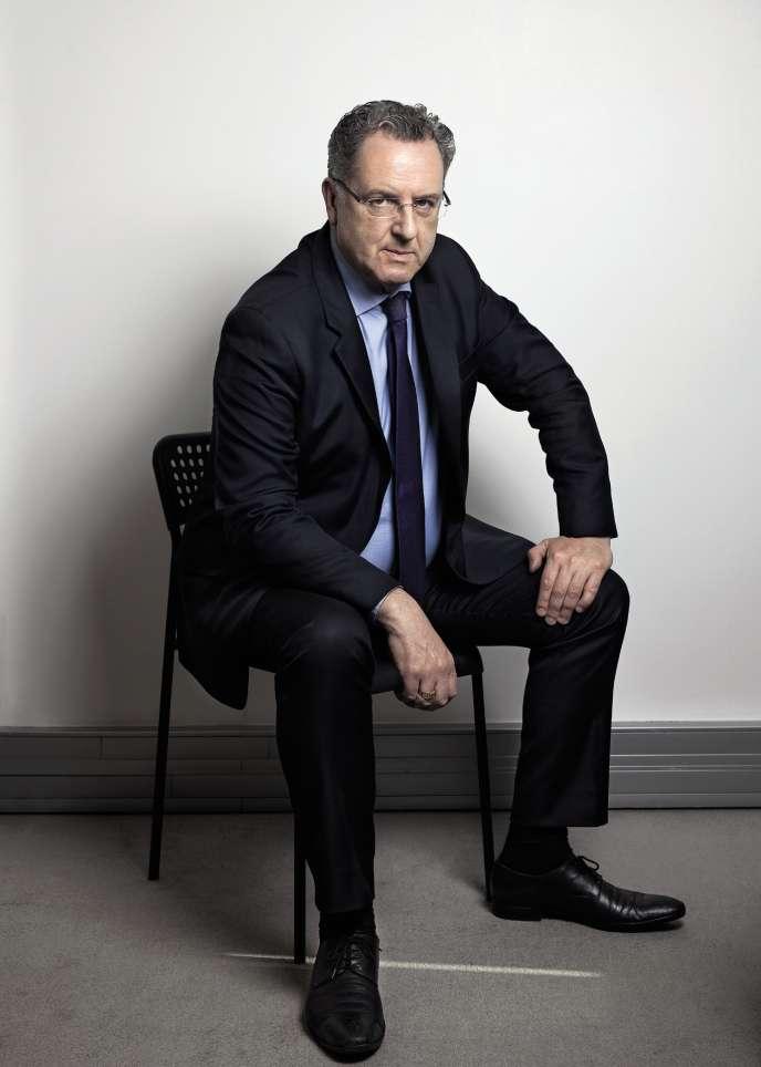 Richard Ferrand, secrétaire général d'En marche !, dans les locaux du mouvement, à Paris, le 15 mars.