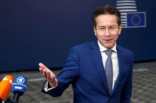 Jeroen Dijsselbloem, le président de l'Eurogroupe, à Bruxelles, le 21 février.