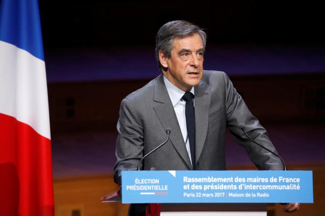 Francois Fillon, le 22 mars 2017, à Paris.