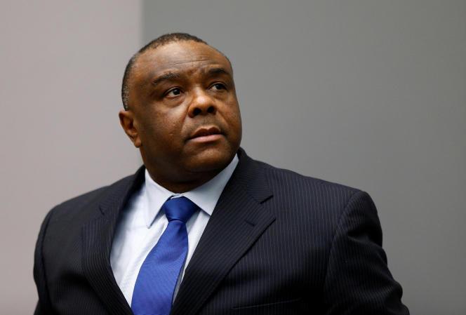 L'ex-vice-président congolais Jean-Pierre Bemba, le 21 juin 2016, devant la Cour pénale internationale (CPI), à La Haye.