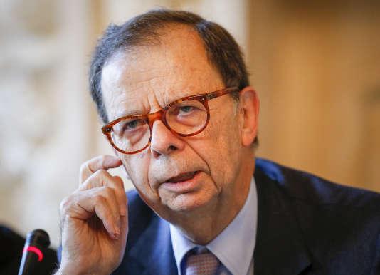 Louis Schweitzer, le président d'Initiative France, à Lyon, le 31 octobre 2014.
