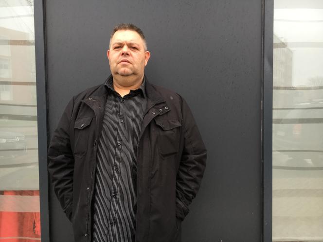 José Segard, 50 ans, demandeur d'emploi, en mars 2017 à Dunkerque (Nord).