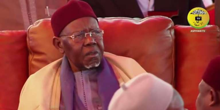 Serigne Abdoul Aziz Sy, nouveau calife de la confrérie tidjane au Sénégal, à Tivaouane, le 18 mars 2017.