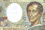 L'essor du commerce«– avec le sucre, le tabac et le coton – est étroitement lié à l'explosion de la traite négrière, au vol des terres qui a accompagné la colonisation» (Photo: billet de banque de 200 francs à l'effigie de Montesquieu).
