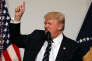 «Donald Trump a pris ses fonctions en promettant des changements radicaux de la politique économique des Etats-Unis. Mais, comme ses prédécesseurs, il s'est vite rendu compte que le système politique américain était précisément conçu pour empêcher tout changement rapide de grande ampleur». (Photo : Donald Trump intervient lors du dîner avec les élus du Congrès, à Washington (Etats-Unis), le mardi 21mars).