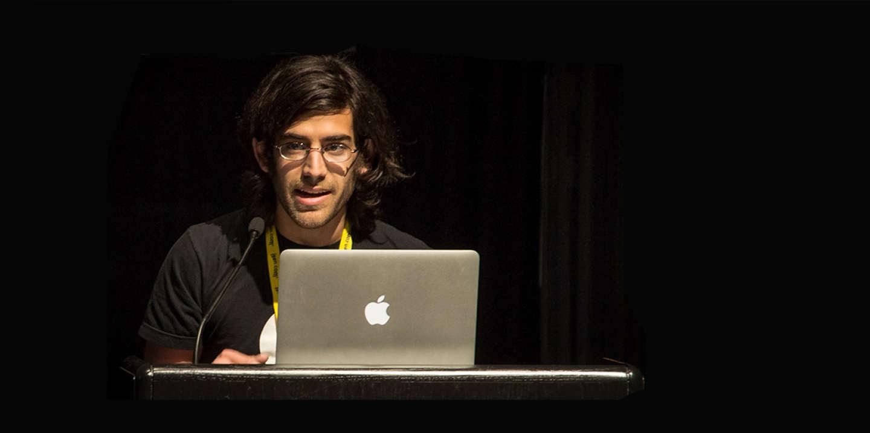 Aaron Swartz lors d'une conférence à Washington en 2012.