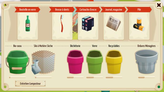 Tout est donné dans ce« seriousgame» pour expérimenter le tri des déchets et le compostage.