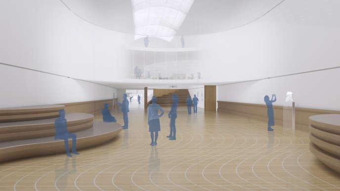 Perspective d'une des futures salles d'exposition du Musée de la Marine à Paris.
