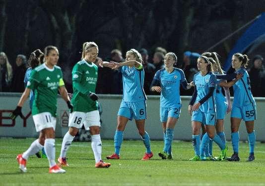 Les Danoises du Fortuna Hjorring continuent de résister malgré le court succès de Manchester City en quart de finale aller (1-0).