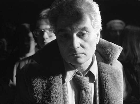Jacques Derrida, en 1982.