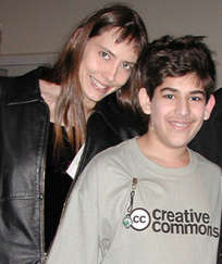 Lisa Rein et Aaron Swartz, alors qu'il était encore adolescent.