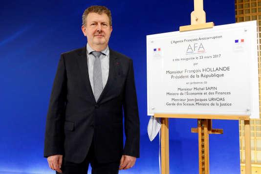 Charles Duchaine lors de l'inauguration de l'Agence française anticorruption, le 23 mars 2017, à Paris.