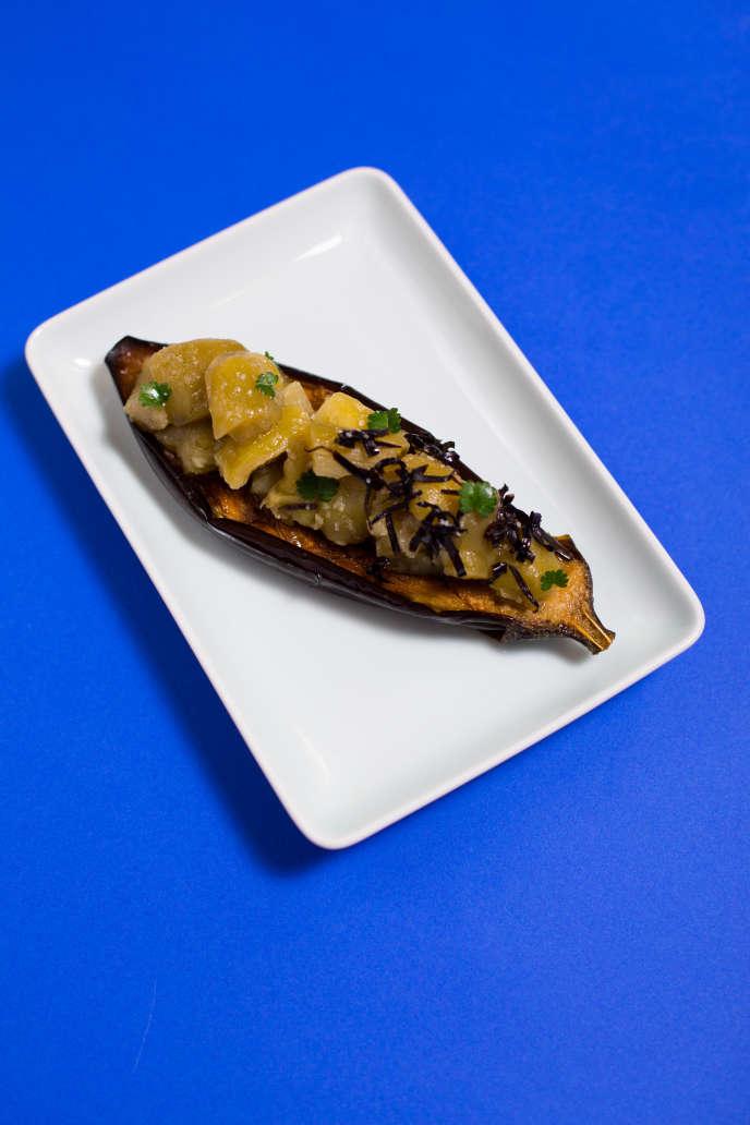 L'aubergine gratinée de Sonia Ezgulian est autant inspirée de la cuisine arménienne de sa grand-mère que de voyages en Italie et au Vietnam.