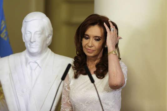 Cristina Kirchner, ancienne présidente de l'Argentine, au palais présidentiel, à Buenos Aires, en décembre 2015.