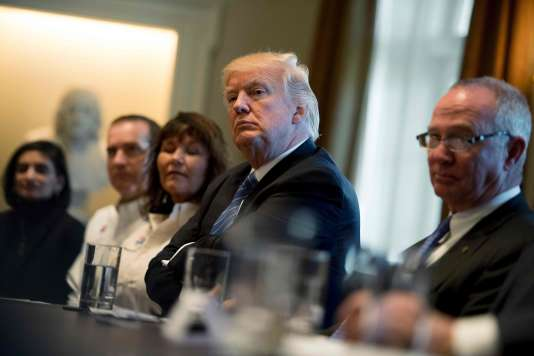 Donald Trump à la Maison Blanche, à Washington, le 23 mars.