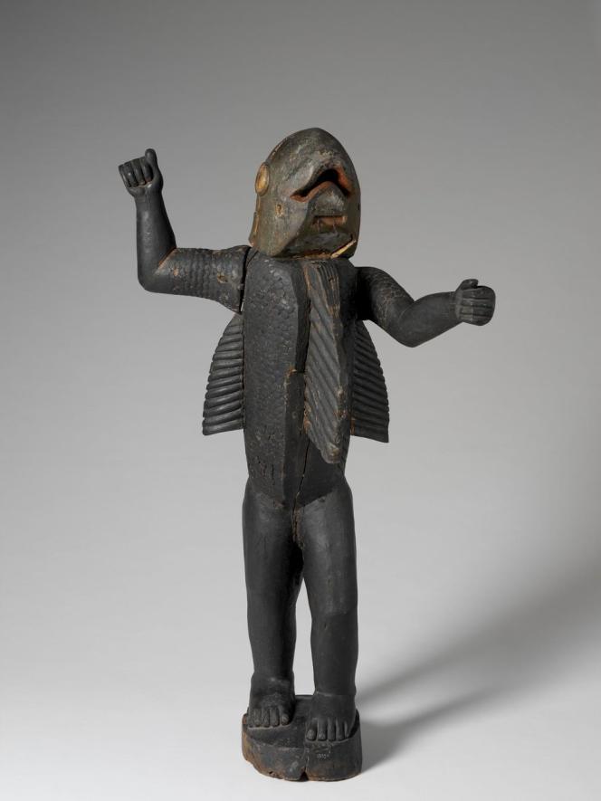 Statue royale représentant le roi Béhanzin, dernier roi du Dahomey (1890-1894).