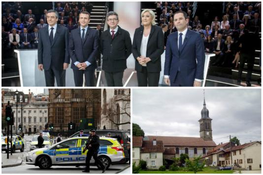 Attentat à Londres, un premier débat des présidentielles et des révélations sur des pédophiles protégés par l'Eglise catholique.