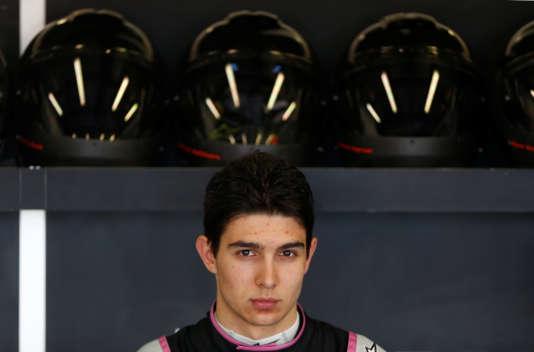 Premiers essais à Melbourne, le 24 mars, pour Esteban Ocon, pilote Force India.